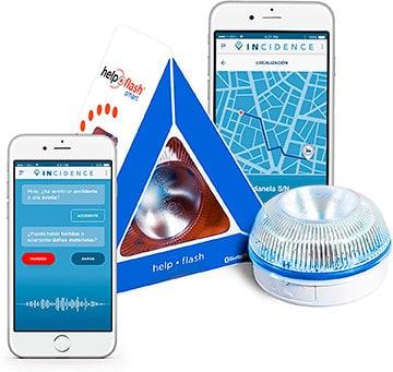 Señal de tráfico V16 inteligente Help Flash Smart